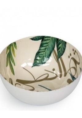 Iron Bowl Leaves-Medium-20x20x9cm