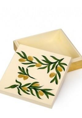 Wood-Box Hand Drawn-Small Olive