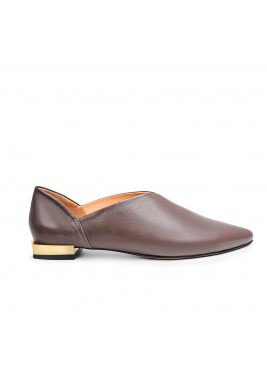 Jood II Brown Leather Slippers