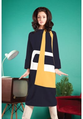 Midi Colorblock Dress
