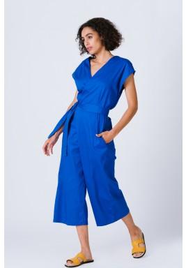 Blue wrap Over Jumpsuit