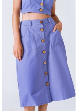 Lilac Button Up Skirt