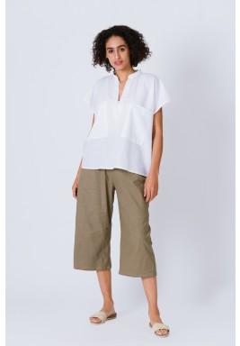 Olive Linen Pants