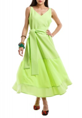 Lime Neon Sleeveless Dress