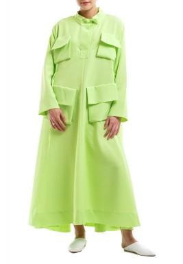 Lime Neon Pocket Kaftan