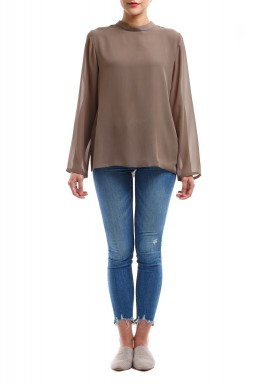 Taupe Long Sleeves Shirt