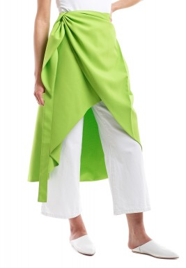 Green Neon Wrap Skirt