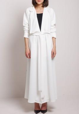 Jacket Abaya white