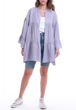 Lavender Tiered Long Sleeves Top