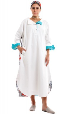 White African Midi Dress Red Patterned