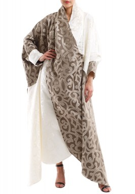 Cream & Bronze baroque kaftan