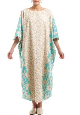 Tiffany flowers & gold kaftan