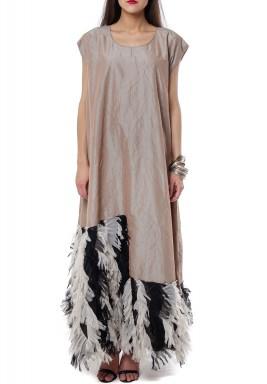 Feathery kaftan