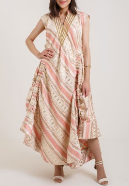 V Neck Sleeveless Kaftan