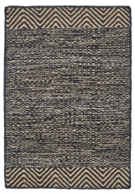 House Doctor Rug, Pattern, Black & Natural,85x130 cm
