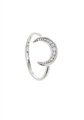 Flora Crescent Diamond Ring