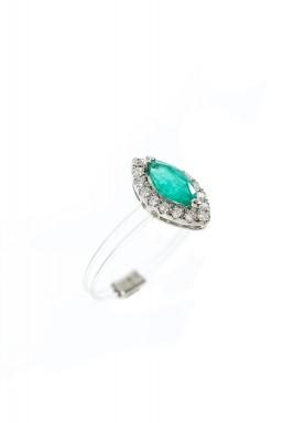Emerald Plastic Shank Ring