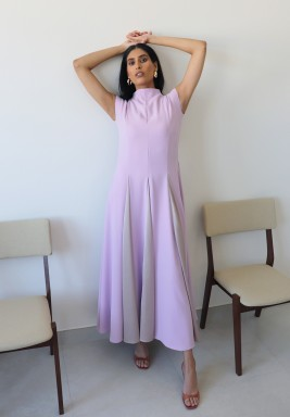 Lavender Purple sleeveless Kaftan