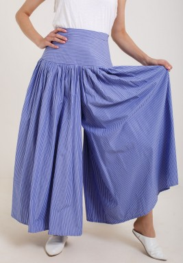 Blue Striped Cloche Pants
