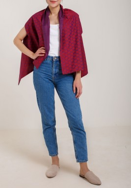 Red & Purple Shawl Jacket