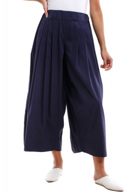 Wide pants blue