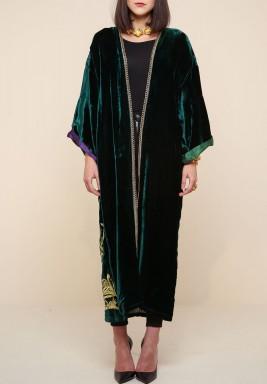 Velvet Emerald green Bisht