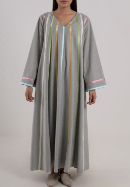 Cotton striped kaftan