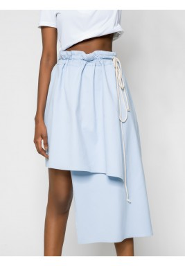 Asymmetric Denim Skirt