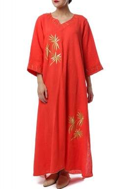 Golden Tree Kaftan Orange