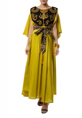 Black and Gold Kaftan