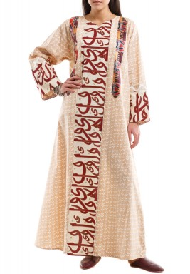 Calligraphy & Floral Arabesque kaftan