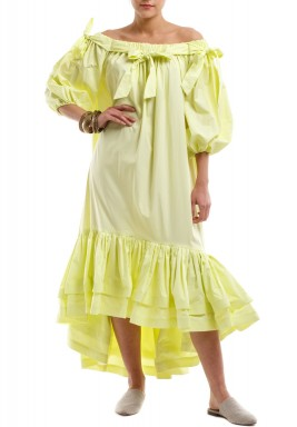 Lemon flower kaftan