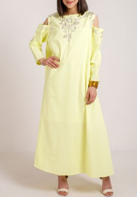 Shoulder Cut Kaftan