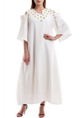 White Najma Kaftan
