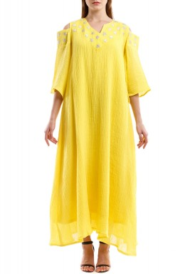 Yellow Najma Kaftan