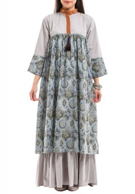 Gold vines flora kaftan