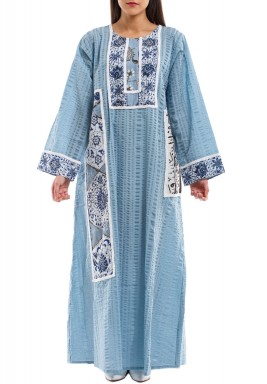 Warda Blue Kaftan