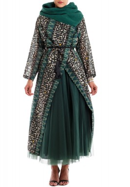 Green Taleen Kaftan Set
