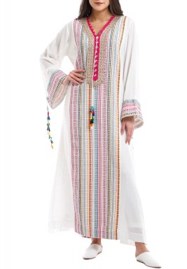 Tetra Colorful Embroidered Kaftan