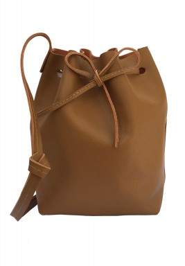 The Bucket Havana Camel Leather Bag