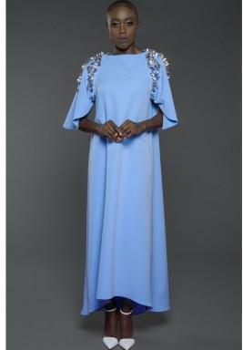 Petal Sleeves kaftan Blue