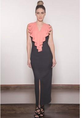 Pleated Collar  Dress