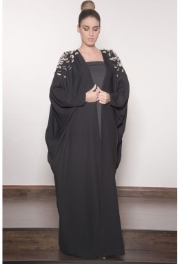Shoulder Fan Sequin Abaya