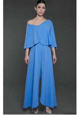 Off Shoulder Jumpsuit Blue