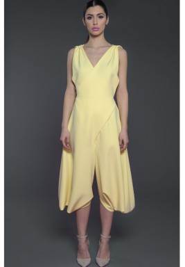 Sleeveless Jumpsuit Yellow