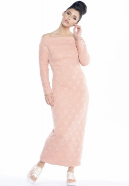 Backless Bow Wrap dress pink