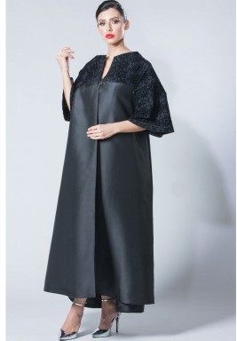 High Collar Abaya