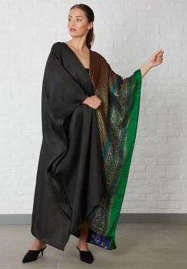 Puncho Style Tribal Metallic Abaya