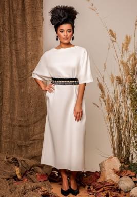 White Linen Belted Kaftan