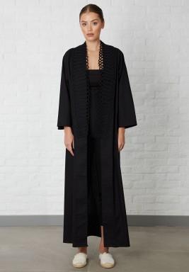 Black Rope details Abaya